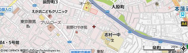 東京都板橋区大原町周辺の地図
