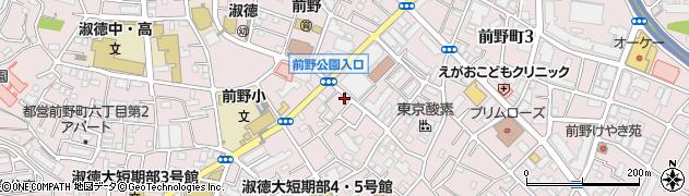 東京都板橋区前野町周辺の地図