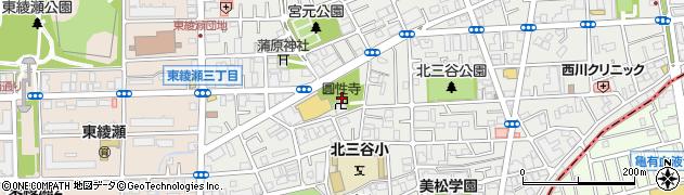 圓性寺周辺の地図