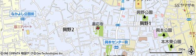 善応寺周辺の地図
