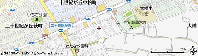 千葉県松戸市二十世紀が丘丸山町周辺の地図