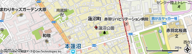 東京都板橋区蓮沼町周辺の地図