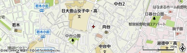 東京都板橋区中台周辺の地図
