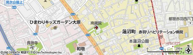 南蔵院周辺の地図