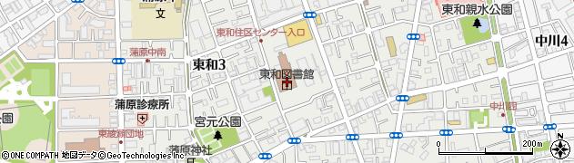 東京都足立区東和周辺の地図