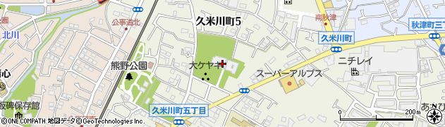 梅岩寺周辺の地図