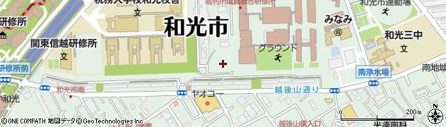 埼玉県和光市南周辺の地図