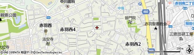 東京都北区赤羽西周辺の地図