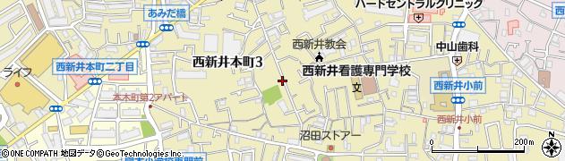 東京都足立区西新井本町周辺の地図