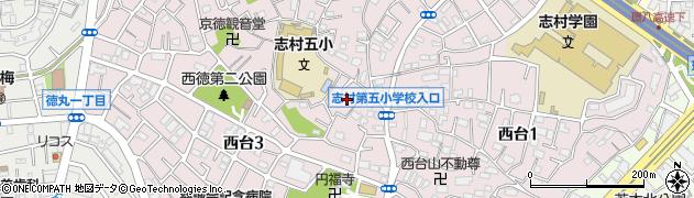 東京都板橋区西台周辺の地図