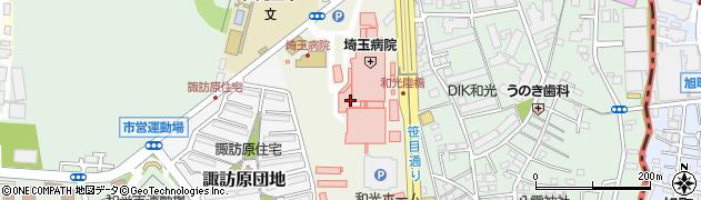 埼玉県和光市諏訪周辺の地図