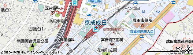 千葉県成田市周辺の地図