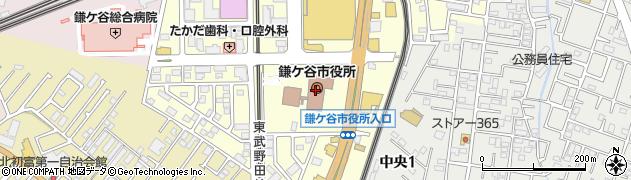千葉県鎌ケ谷市周辺の地図