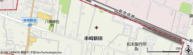 千葉県松戸市串崎新田周辺の地図