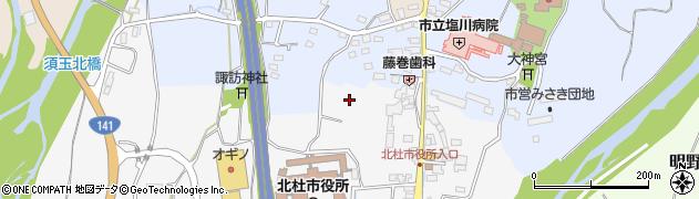 山梨県北杜市須玉町大豆生田周辺の地図