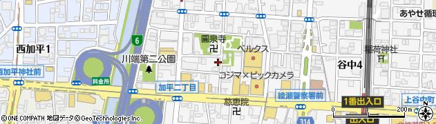 東京都足立区加平周辺の地図