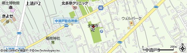 全龍寺周辺の地図