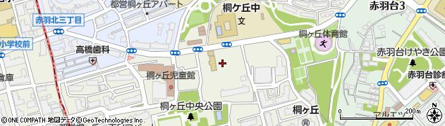 東京都北区桐ケ丘周辺の地図