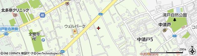 東京都清瀬市中清戸3丁目219周辺の地図