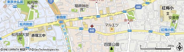 東京都板橋区四葉周辺の地図