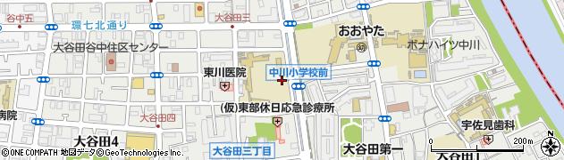東京都足立区大谷田周辺の地図