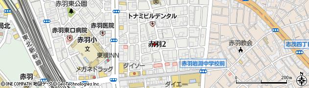 東京都北区赤羽周辺の地図