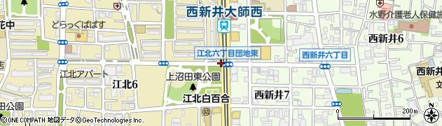 江北六丁目団地東周辺の地図