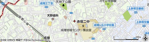東京都板橋区成増周辺の地図