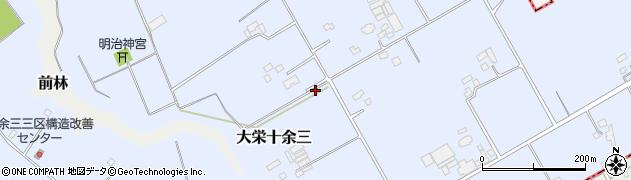 千葉県成田市大栄十余三周辺の地図