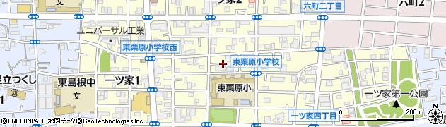 東京都足立区一ツ家周辺の地図