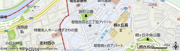 都営赤羽北三丁目団地周辺の地図