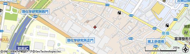 埼玉県和光市中央周辺の地図