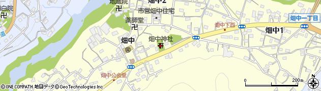 畑中神社周辺の地図