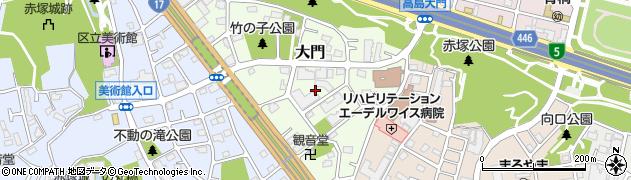東京都板橋区大門周辺の地図