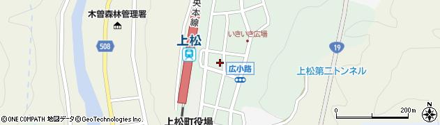 長野県木曽郡上松町周辺の地図