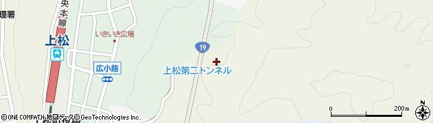 上松第二トンネル周辺の地図