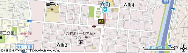 東京都足立区六町周辺の地図