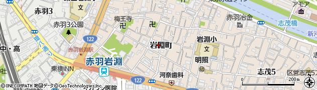 東京都北区岩淵町周辺の地図