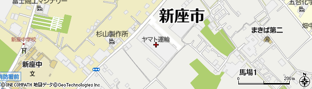 埼玉県新座市馬場1丁目12-4周辺の地図