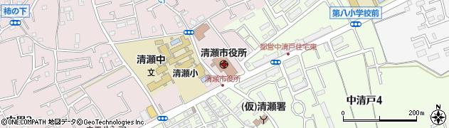 東京都清瀬市周辺の地図
