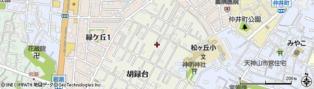 千葉県松戸市胡録台周辺の地図