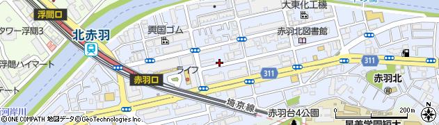 東京都北区赤羽北周辺の地図