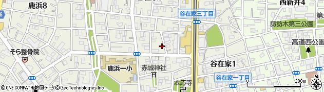 東京都足立区谷在家周辺の地図