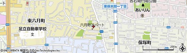 都営六月町アパート周辺の地図