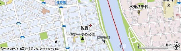 東京都足立区佐野周辺の地図
