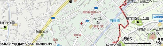 埼玉県和光市白子周辺の地図