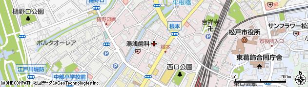 千葉県松戸市根本周辺の地図