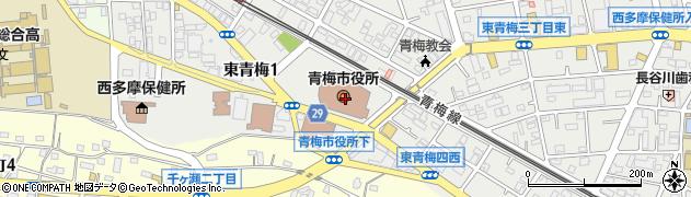 東京都青梅市周辺の地図