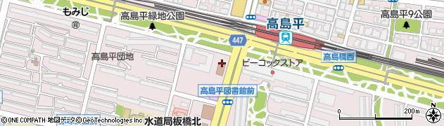 東京都板橋区高島平周辺の地図
