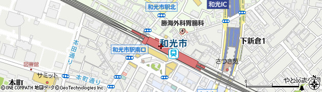 埼玉県和光市周辺の地図